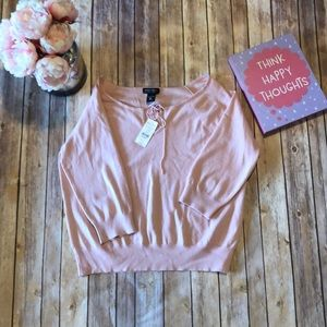 👛NWT NEW YORK & COMPANY SOFT PINK PULL OVER